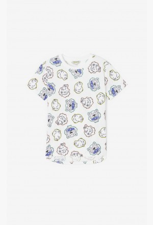 Multi-icon T-shirt - white