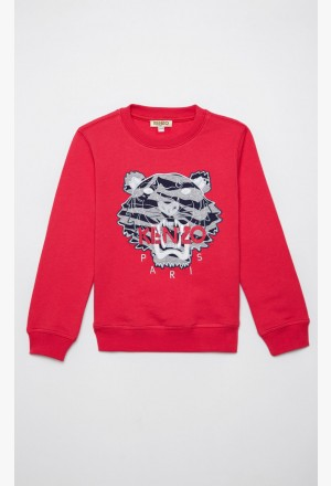 Sweatshirt Tiger 'Tiger Stripes' - deep fuschia