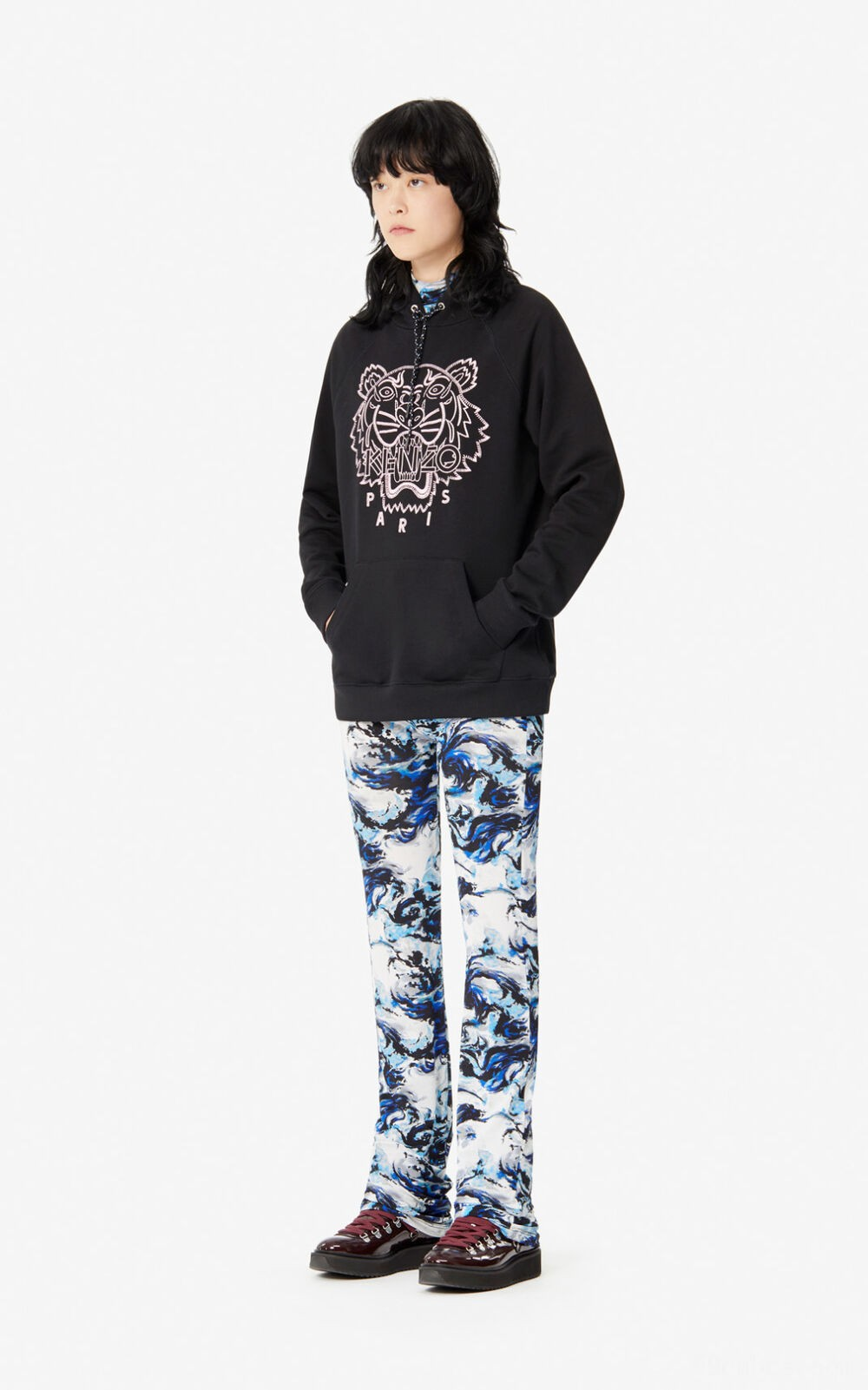 Kapuzensweatshirt Tiger 'Capsule-Kollektion Expedition' - black