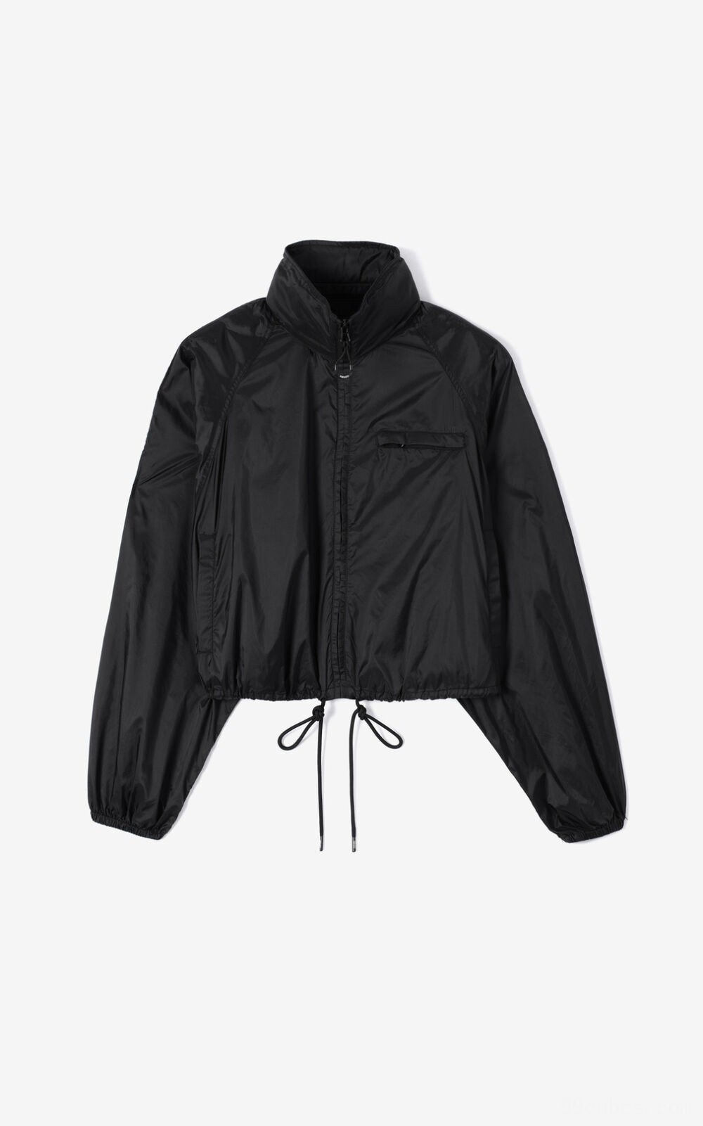 Cropped Windjacke - black