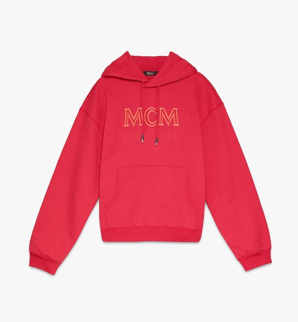 MCM Worldwide Kapuzenpulli für Herren - Chinese Red